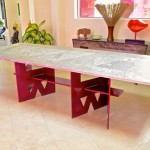 Dining table top, aviation aluminum 3.5' x 9'.
