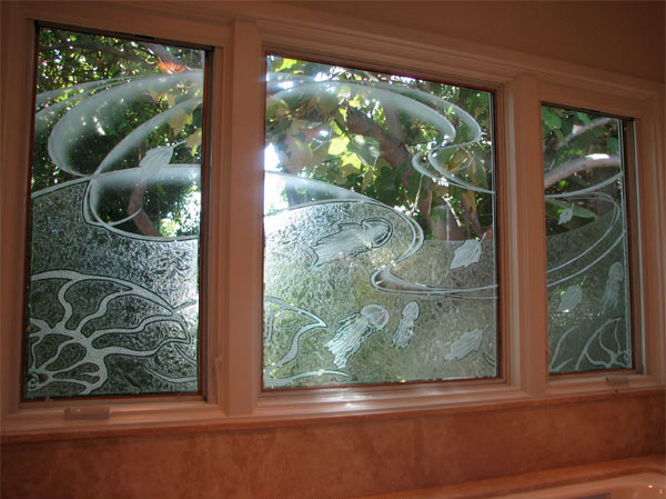 Carved Amp Custom Glass Etched Glass Windows California