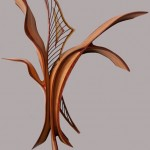 Alisha Volotzky: carved and painted glass. Kerry Vesper: layered and carved wood.