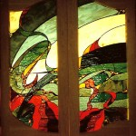 Stained Glass dining room doors.