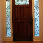Leaded Glass door and side lights.