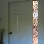 Interior Transom and Light window leaded glass.
