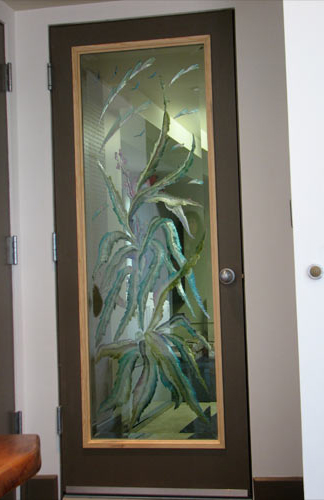 Carved Amp Custom Glass Etched Glass Doors California